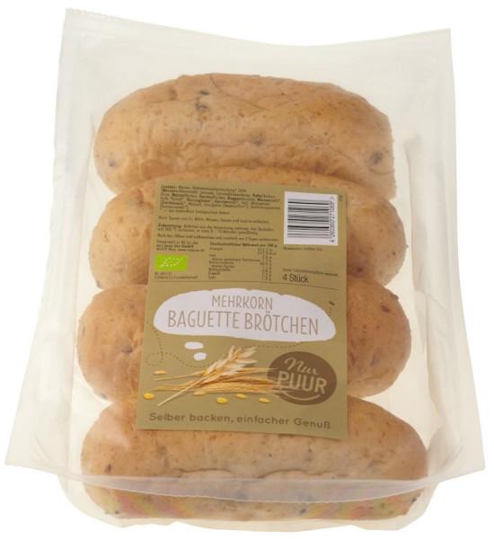 Mehrkorn-Baguettebrötchen 4St vegan, 300g