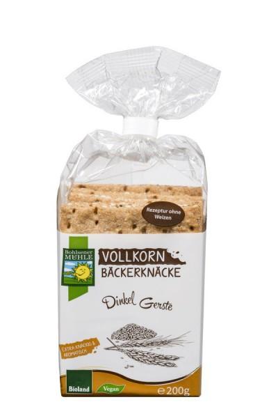 Bäckerknäcke Vollkorn-Dinkel-Gerste BIOLAND, 200g