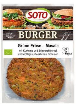 Burger Grüne Erbse-Masala vegan 2St, 160g