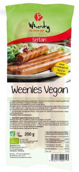 WHEATY Veganwurst Weenies 4St, 200g