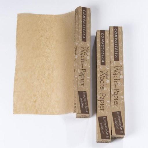 Compostella Naturwachspapier FSC B=38cm | 8lfm, Rolle