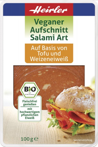 Veganer Aufschnitt Salami Art, 100g