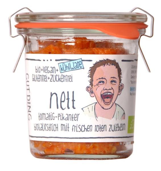 Aufstrich Nett fruchtig-pikant vegan - Weck-Glas, 100g