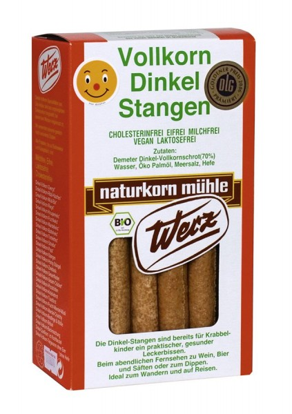 Vollkorn-Dinkel-Stangen, 125g