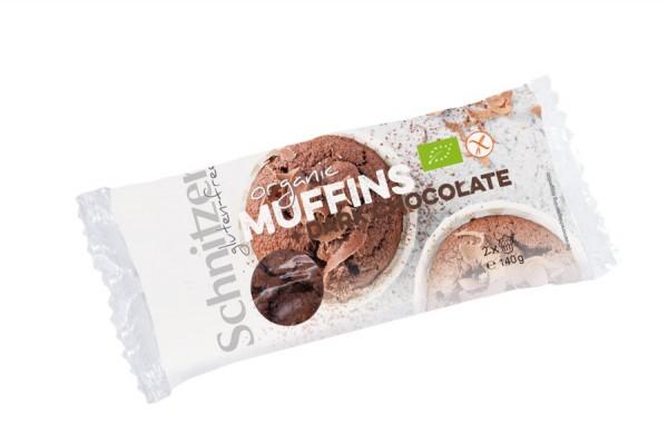 Muffins Dark Chocolate glutenfrei 2St, 140g