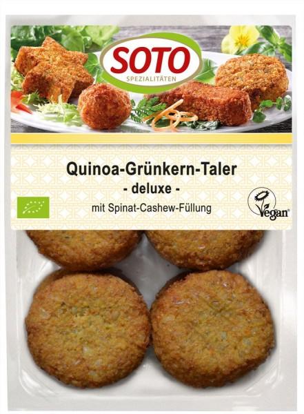 Quinoa-Grünkern-Taler deluxe 6St, 195g