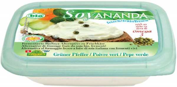 Soyananda Frischkäse-Alternative grüner Pfeffer, 140g
