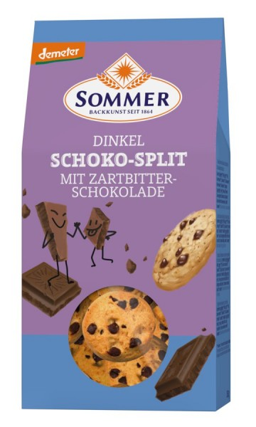Dinkel-Schoko-Split DEMETER, 150g