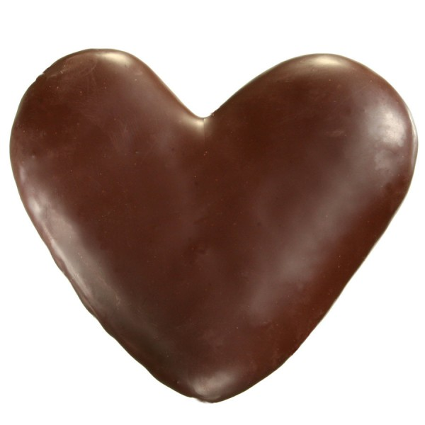 Lebkuchen-Herzen in Zartbitter - Grossgebinde, Stück