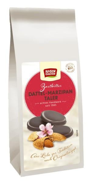 Zartbitter Dattel-Marzipan Taler, 100g