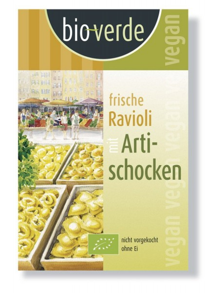 Frische Ravioli mit Artischocken-Füllung vegan, 250g