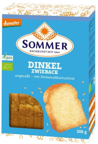 Dinkel-Zwieback ungesüßt vegan DEMETER, 200g
