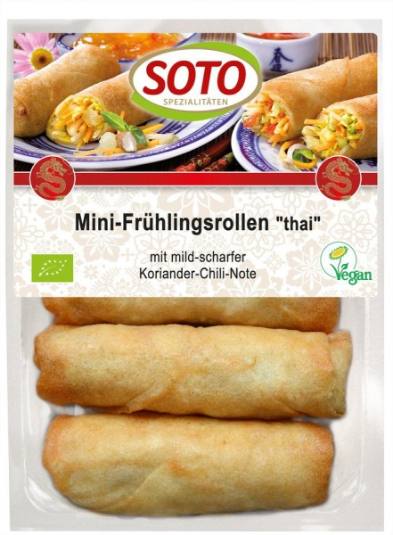 Mini-Frühlingsrollen Thai vegan 4St, 200g