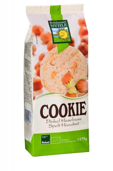 Cookie Dinkel-Haselnuss BIOLAND, 175g