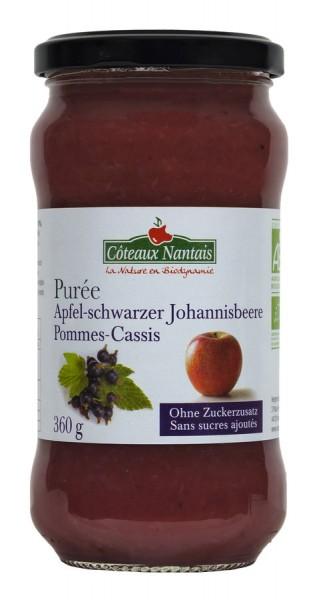 Fruchtpüree Apfel-Schwarze Johannisbeere ungesüßt, 360g