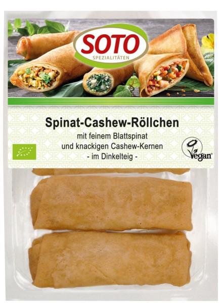 Spinat-Cashew-Röllchen im Dinkelteig vegan 4St, 200g