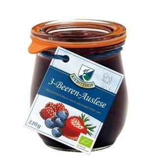 Fruchtaufstrich 3-Beeren-Auslese - Weckglas, 220g