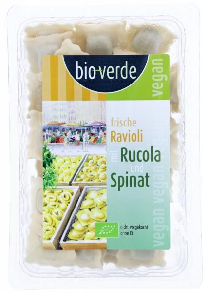 Frische Ravioli mit Rucola-Spinat-Füllung vegan, 250g