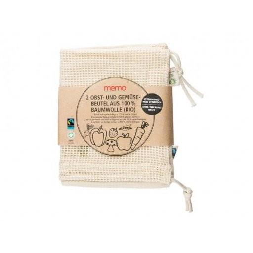 MEMO Baumwollbeutel für Obst & Gemüse 2St, 2Stück