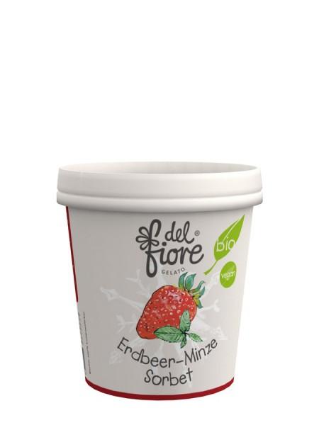 Eisbecher Erdbeere & Minze Sorbet, 130ml