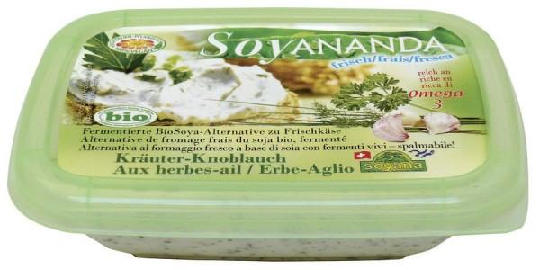 Soyananda Frischkäse-Alternative Kräuter-Knoblauch, 140g