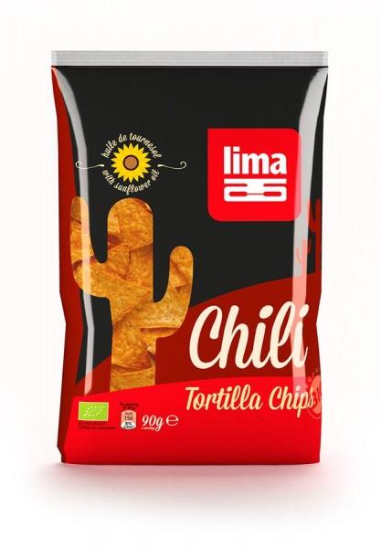 Tortilla Chips mit Chili, 90g