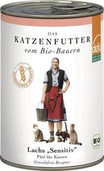 Katzenfutter Lachs Paté sensitiv - Dose, 410g