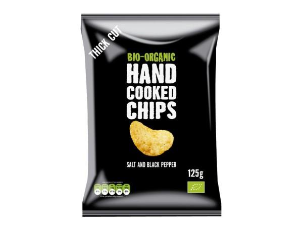 Handcooked-Kartoffelchips gesalzen Black Pepper, 125g