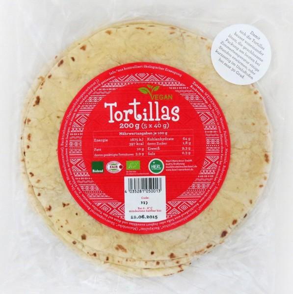 Frische Tortillafladen BIOLAND 20cm | 5St, 5x40g