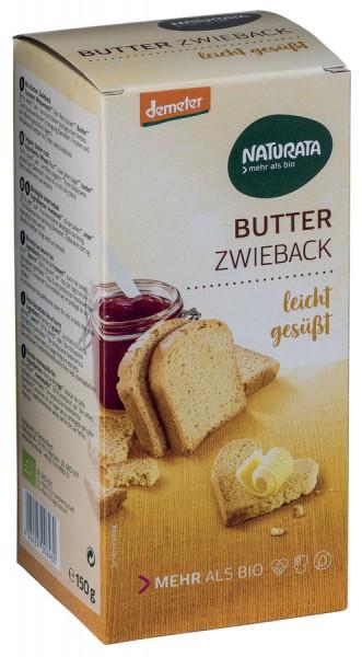 Butterzwieback DEMETER gesüßt, 150g