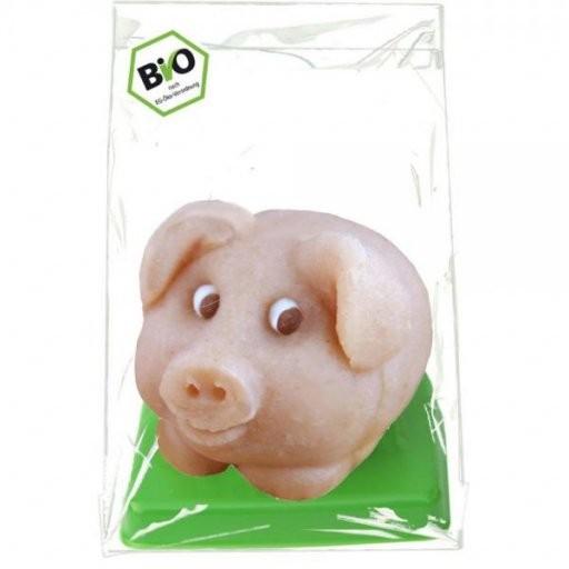 Marzipan-Glücksschweinchen Rosa - in der Tüte, Stück