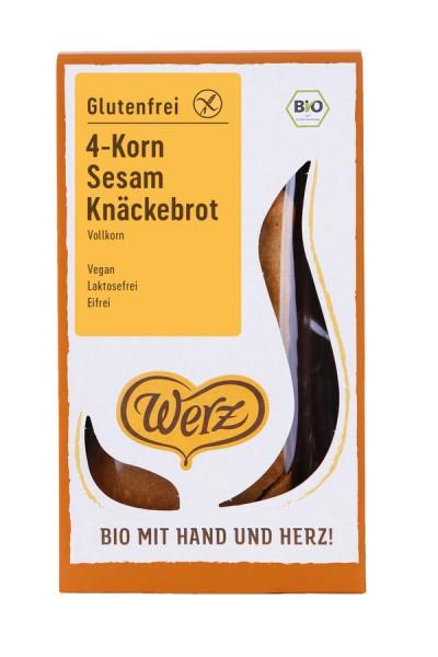 4-Korn-Vollkorn-Sesam-Knäckebrot glutenfrei, 150g