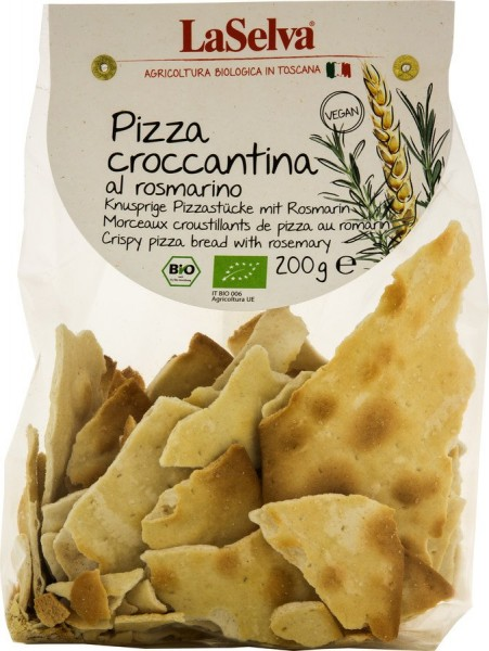 Pizza croccantina mit Rosmarin, 200g