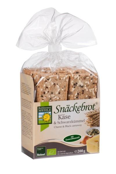 Snäckebrot Schwarzkümmel-Käse BIOLAND, 200g