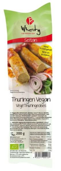 WHEATY Veganwurst Thuringen 2St, 200g