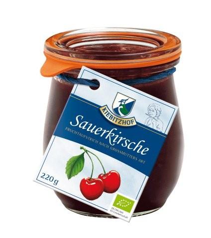 Fruchtaufstrich Sauerkirsche - Weckglas, 220g