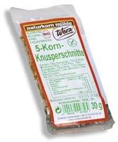 5-Korn Knusperschnitte glutenfrei, 30g