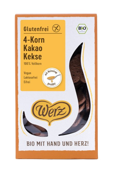4-Korn-Vollkorn-Schoko-Keks glutenfrei, 150g