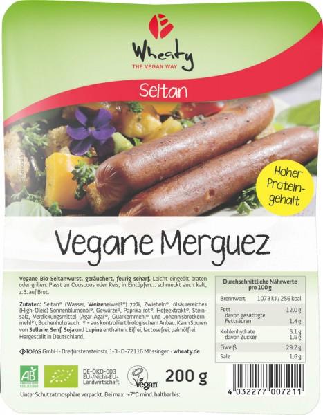 WHEATY Veganwurst Merguez 5St, 200g