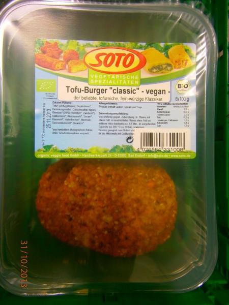 Tofu-Burger classic vegan - Theke, 100g