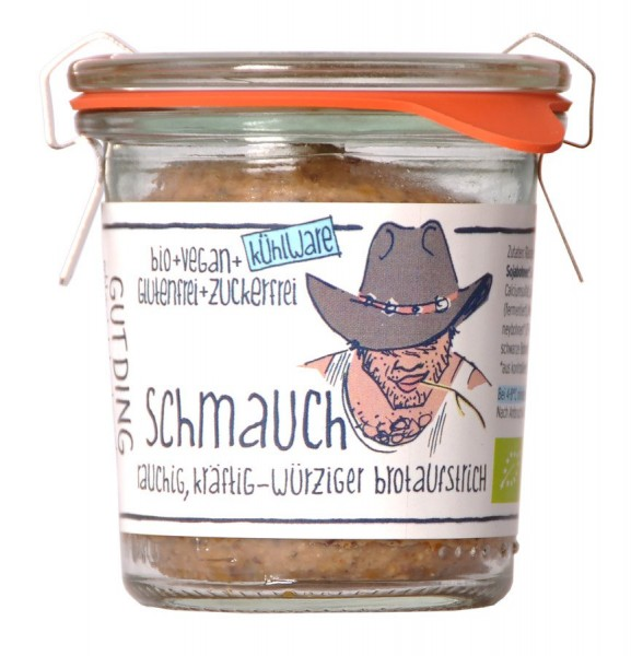 Aufstrich Schmauch würzig-rauchig vegan- Weck-Glas, 110g