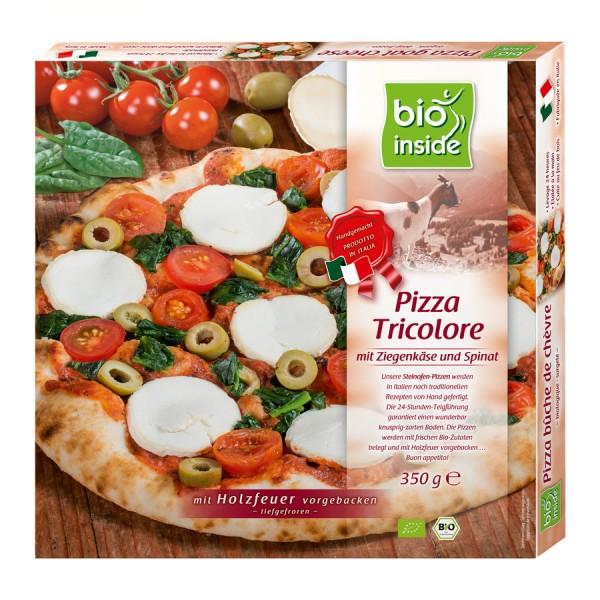 TK-Pizza Tricolore mit Ziegenkäse bio inside, 350g