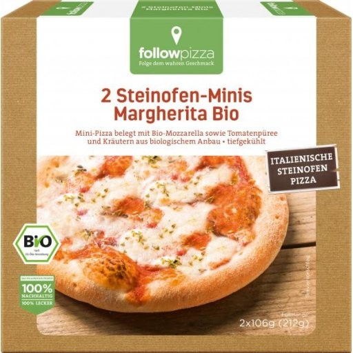 TK-Steinofen-Mini-Pizza Margherita, 2x106g