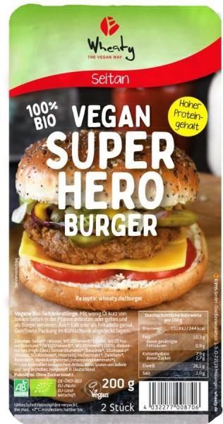 WHEATY Superhero Burger vegan 2St, 200g