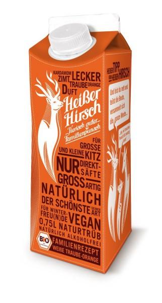 Familienpunsch Heißer Hirsch orange Traube-Orange, 0,75l