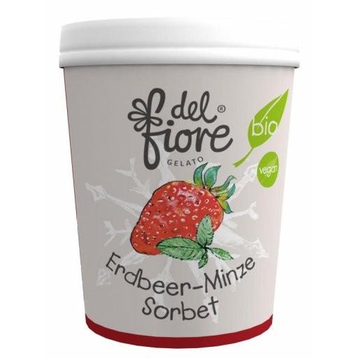 Familieneisbecher Erdbeere & Minze Sorbet, 500ml