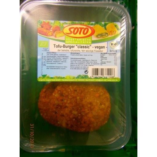 Tofu-Burger classic vegan - Grossgebinde, 100g