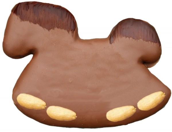 Lebkuchen-Pferde mit Mandeln in Schokolade - Grossgebinde, Stück