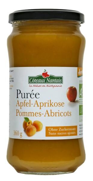 Fruchtpüree Apfel-Aprikosen ungesüßt DEMETER, 360g