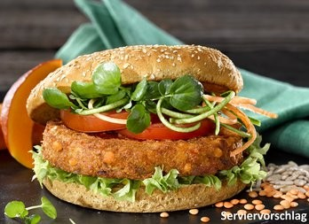 Burger Gemüse-Rote Linse vegan - Grossgebinde, 80g